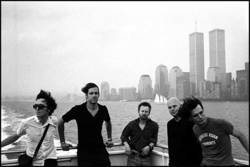 Radiohead in Black & White With WTC in Background - Imgur